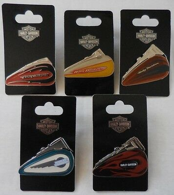 Harley Davidson 2007 Collectible Fuel Tank Pins Set of 5 Pins New