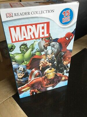 Marvel DK Reader Collection 15 Books - Avengers - Iron Man - Spider-Man X-Men