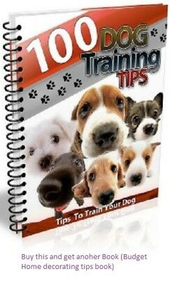 100 Dog Training Tips eBook PDF with Resell Rights Free shipping + Bonus book