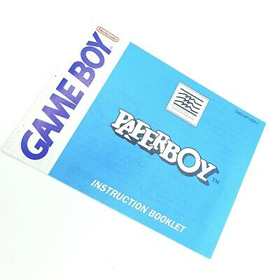 Paperboy Game Boy Nintendo Instruction Manual Only