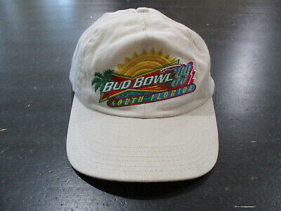 fdf8919a VINTAGE Bud Bowl 1999 Strap Back Hat Cap Brown Budweiser Football Mens 90s *