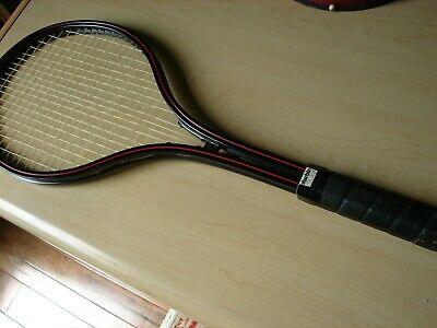 """The Durbin Racket"" Metal Tennis Racquet 4 1/2"" Leather Grip, Sleeve Case"