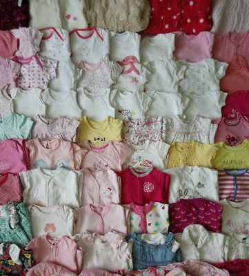 Massive Baby Girls Clothes Bundle 0 - 3 Months/90 Items
