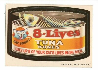 1973 Wacky Packages Series 2    8 LIVES   White Back