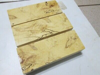 3pcs lot BEAUTIFUL spalted hornbeam turning block lumber, knife scales crafts