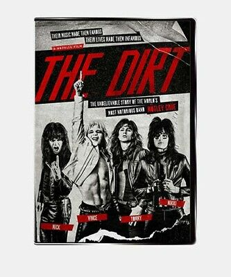 """""""THE DIRT"""" MOVIE MOTLEY CRUE MOVIE DVD  [NEW/SEALED, 2019] Ships from USA"""