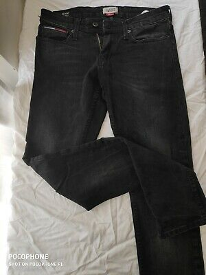 tommy Hilfiger denim men jeans color black skinny used only  once 28/34