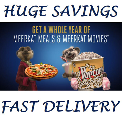 1 Year - Meerkat Movie & Meals Membership - 2 For 1 Cinema - Cineword Odeon Vue