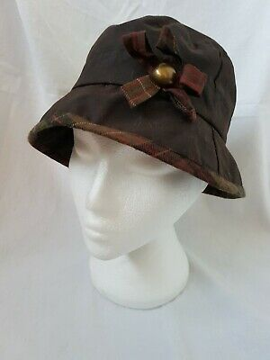 7b8de95c TAYBERRY LOUISA WITH Bow Hat Antique Brown Waxed Cotton Waterproof ...
