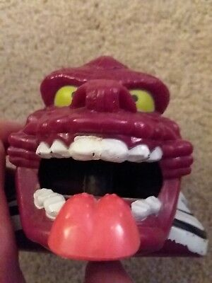 vintage 1988 columbia pictures purple monster wheel with sneakers kids toy