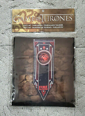 "Game of Thrones Targaryen Tournament Banner 19.25"" X 60"" Fire and Blood"