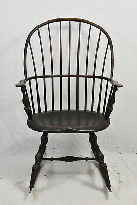 D.R. DIMES WINDSOR CHAIR BOW-BACK ROCKING CHAIR Armchair Williamsburg Style