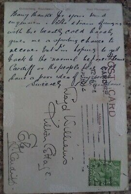 Peter Gawthorne (1884 - 1962) Earliest Autographs On Personally Sent Post Card