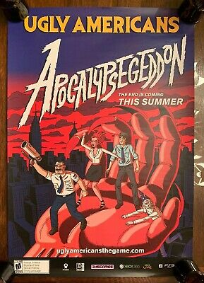 Ugly Americans: Apocalypsegedon PROMO POSTER for Video Game 18x26