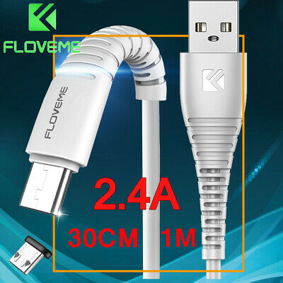 FLOVEME USB Type C Charging Cable 5V 2.4A Data USB-C Fast Charge Cord 1M 30CM