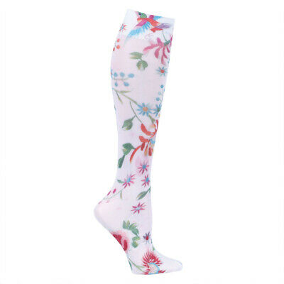 411f006c74 Celeste Stein Moderate Compression Knee High Stockings Wide Calf-White  Dynasty