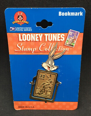 Vintage New on Card Looney Tunes USPS Stamp Collection Bugs Bunny Bookmark