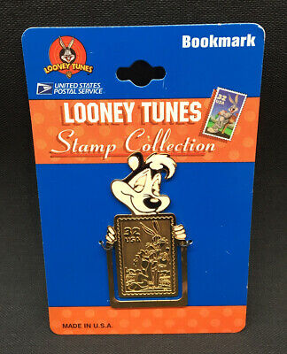 Vintage New on Card Looney Tunes USPS Stamp Collection Pepé Le Pe Bookmark