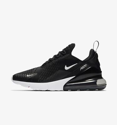 NIKE AIR MAX 270 BLACK ANTHRACITE SOLAR RED WHITE AH8050-002 Mens Running Shoes