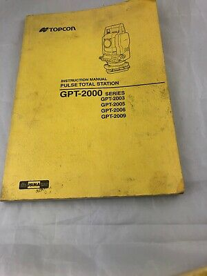 TOPCON TOTAL STATION GTS-2B, GTS-2S OWNER'S INSTRUCTION MANUAL BOOK
