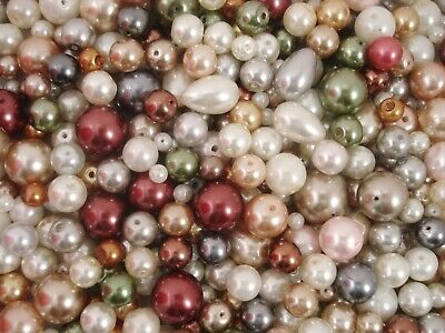Glass Pearl Beads Mix Colours 50g (Range2) Jewellery Jewelry FREE POSTAGE