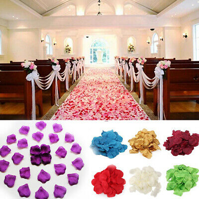 1000Pcs Silk Flower Rose Petals Wedding Party Table Decoration Venue Decor