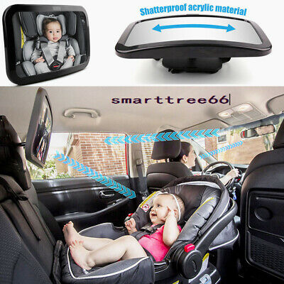 Baby Car Seat Rear View Mirror Facing Back Observation Kids Child Toddler Safety
