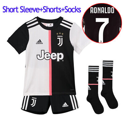 f9647d71f 19 20 Juventus RONALDO Football Kits Soccer Suits Jerseys For Kids 3-14Yrs  Adult