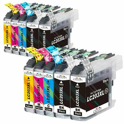 10 pcs LC203XL LC201 compatible Ink Cartridges for Brother printer MFC-J460DW