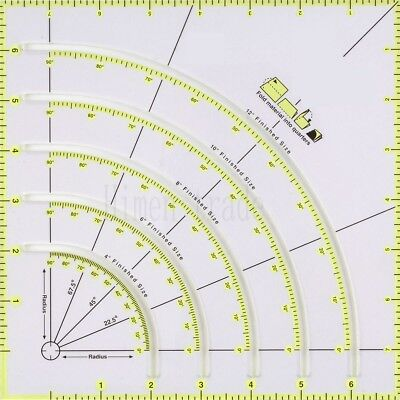 "New Ruler Non-Slip Circle Cutter 8""X8"" fold material into quarters #KT-90"
