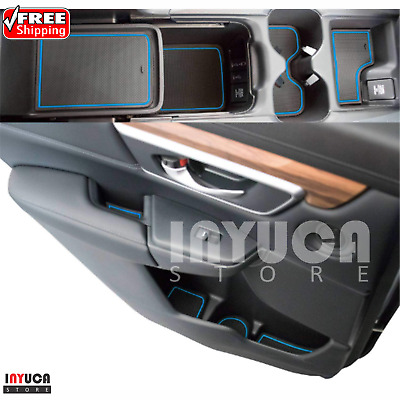 Cup Holder and Door Compartment Liner Accessories for Honda Civic 2018//2017 15PC