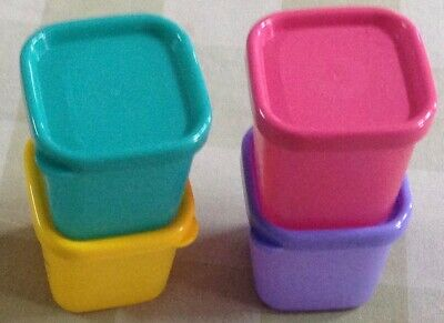 Tupperware Cubix Small-Set of 4-110ml each in new colors