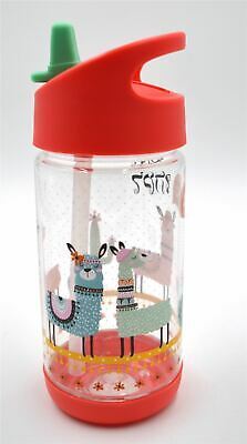 Mosco Tritan  Kids Water Bottle with Flip Straw and Handle, BPA Free 330ml