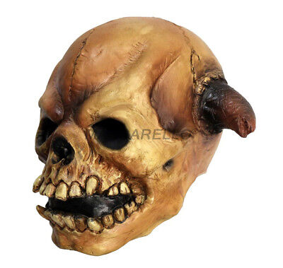 Realistic Scary Halloween Masks.Skull Mask Full Head Scary Halloween Realistic Latex Party Horror Costume Props