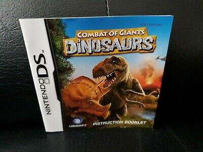 Combat Of Giants: Dinosaurs, Nintendo DS Game Manual, Trusted Ebay Shop