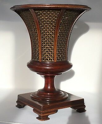 Antique Late Georgian/ Early Victorian Inlaid Mahogany Jardiniere/ Wine Cooler