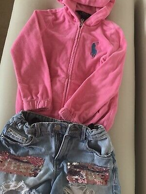 Girls Ralph Lauren Hoodie And Zara Shorts, Age 6
