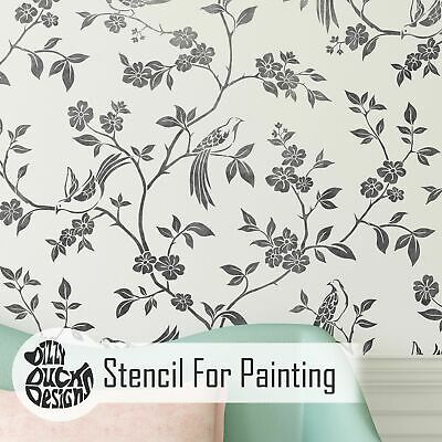 Chinoiserie Oriental Wall Stencil For Painting Feature Wall