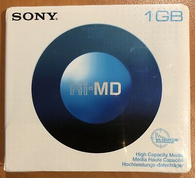 NEW Sony 1GB Hi-MD MiniDisc Mini Disc Blank Recordable *SEALED*