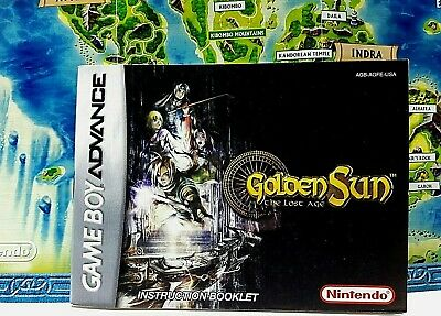 GOLDEN SUN NINTENDO Game Boy Advance Instruction Manual Booklet ONLY ...