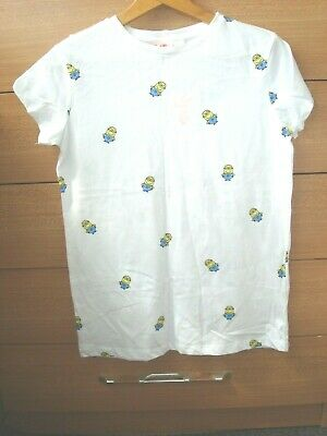 Minions DESPICABLE ME Ladies/Womens/Girls T- shirt Top Size 8 Primark NEW