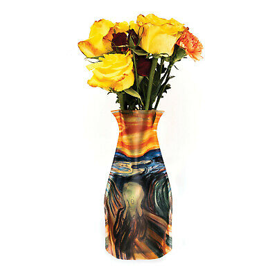 Modgy Plastic Expandable Vases - The Scream Design - BPA-Free Home, Event