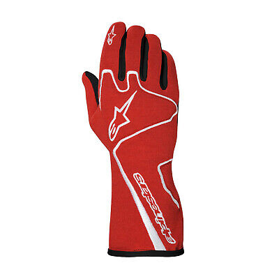Alpinestars TECH 1-RACE Red Racing Gloves (FIA) - Genuine - M