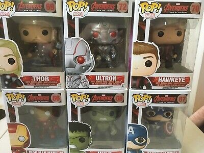 Funko Pop Avengers Age Of Ultron Lot 66 67 68 69 70 72 Hawkeye Thor Hulk Mark 43