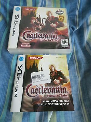 Castlevania Portrait Of Ruin Nintendo Ds Empty Case + Manual Only *No Game* Pal