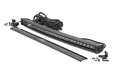 Rough Country 30-inch Curved Cree LED Light Bar Single Row Black Series Cool DRL