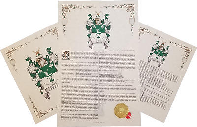Find Your Name Here - Family Coat of Arms Crest Prints - Ireland Origin