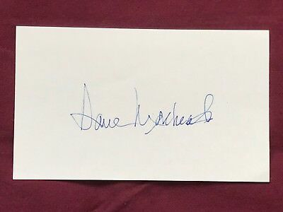 Dave Morehead 3 x 5 Autographed Index Card w COA SG BB