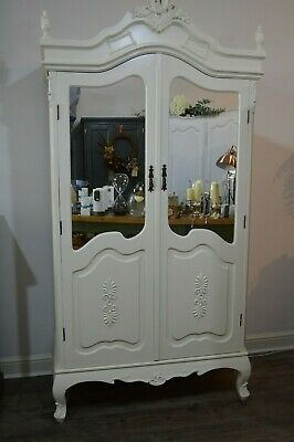 French style Armoire Ornate Louis Wardrobe Half Mirrored comes apart