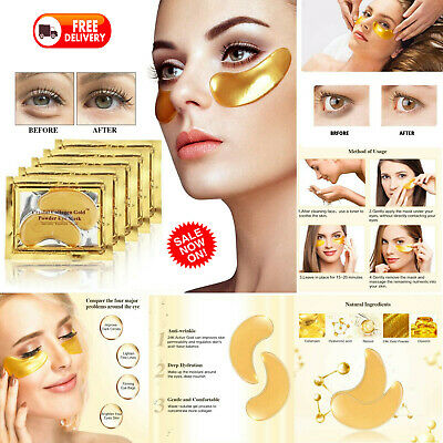 Crystal Collagen 24k Gold Under Eye Gel Mask / Anti Ageing Wrinkle Bag Remover
